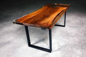 Esstisch Holz Kunstharz Esstisch Baumstamm Baumscheibe Suar Epoxid