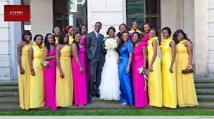 Mixed colours bridesmaids
