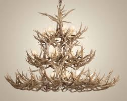 stylish deer antler chandelier