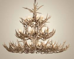 stylish deer antler chandelier