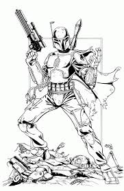 Boba Fett Coloring Page High Quality Coloring Pages Coloring Home