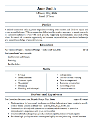 Shoe Repair Sample Resume Fascinating Seamstress Resume Example Fabric Repair Service