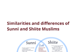 Comparison Chart Of Sunni And Shia Islam Similarities And Differences Of Sunni And Shiite Muslims By