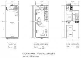 Shophouse in andalucia crest subdidvisionshophouse  floor plan