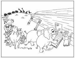Coloring Noahs Ark Coloring Page Pages