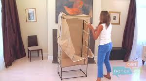 honey can do wrd 01270 27 inch portable storage wardrobe instruction you