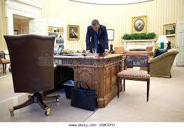 oval office chair. Presidential Office Chair Us President Works On His Remarks In The Oval Before Delivering A .