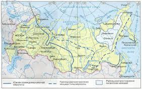 Многолетняя мерзлота и ледники России География Реферат доклад  Рис 146 Распространение многолетней мерзлоты в России