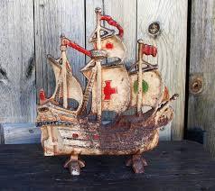 vintage cast iron schooner doorstop pirate doorstop