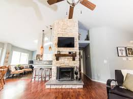 Fireplace  Weatherstone HomesAustin Stone Fireplace