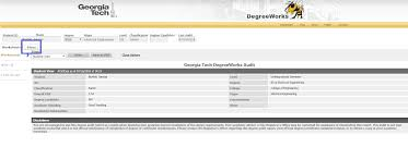 Degree Works Plans Registrars Office Georgia Tech