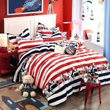 red striped comforter navy