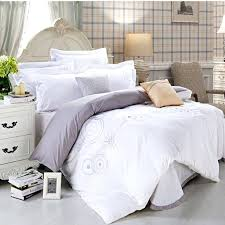 100 cotton hotel bedding set white 4pcs solid color duvet cover queen king bedclothes bedwhite style