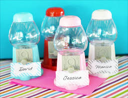 mini gumball machine place card holders glitz and glamour frames