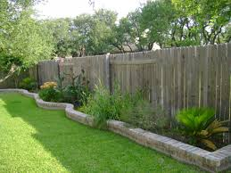 exterior: Astonishing Fence Decor Which Is Made Of Wooden Element Enhanced  With Beautiful Plants And