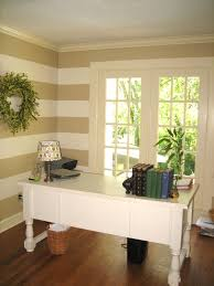 Stripe painted walls Nepinetwork Remodelaholic Remodelaholic Painted Horizontal Striped Office Walls