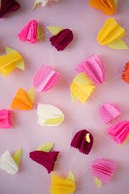 Paper Flower Garland Crepe Paper Flower Garland Diy