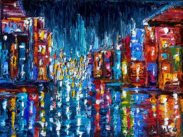 abstract cityscape art painting new orleans by debra hurd