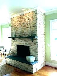 reface fireplace ideas refacing with stone refinish brick wi