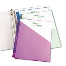 Binder Pockets By Avery Ave75254 Ontimesupplies Com