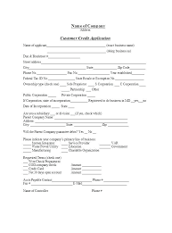 Company Application Form Template Generic Credit Personal Yakult Co