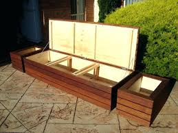 outdoor storage bench plans box easy outside diy o