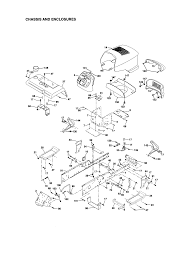 Craftsman garden tractor chassis and enclosures parts