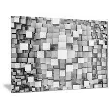 designart x27 black and grey cubes x27 contemporary metal wall art on contemporary square metal wall art with shop designart black and grey cubes contemporary metal wall art