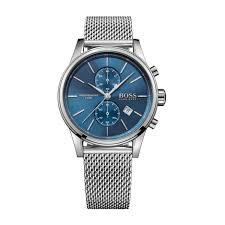 buy a hugo boss watch online fraser hart hugo boss jet men s chronograph blue dial stainless steel mesh bracelet watch
