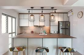 scandinavian interior lighting in a scandinavian style kitchen interior