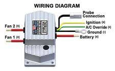 electric fan controller derale high amperage adjustable dual electric fan controller push in probe