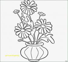 Flower Vases Coloring Pages Awesome Vase With Flowers Drawing Modern
