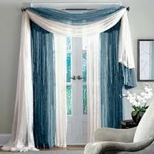 excellent decorative window curtains with white and blue cheesecloth