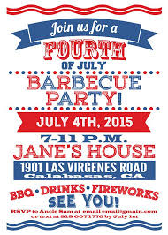 Barbeque Invitation Custom 4th Of July Barbeque Party Invitation All Texts Are Editable