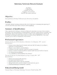 Technical Resume Objective Examples Vet Tech Resumes Veterinary Technician Resume Objective Examples 56