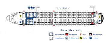 Spirit Airlines Airbus A319 Jet Aircraft Seating Layout Map