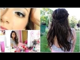 getting prom ready makeup hair my dress