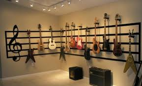 music room decorating ideas | Great Room Guitar Display - Living Room  Designs - Decorating Ideas