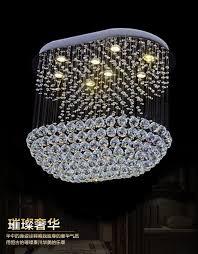 new modern design large crystal chandelier led light ceiling fixtures l80 w40 h100cm luxury foyer chandeliers hotel lamp ceiling fan with chandelier acrylic