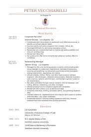 Corporate Recruiter Resume samples