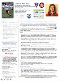 Soccer Resume For College Athletic Resume Resume And Cover Letter Resume And Cover Letter 23