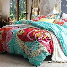 red and aqua bedding aqua blue and red abstract large fl print cotton full queen size bedding duvet cover sets