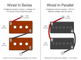 rv batteries 101 why we use trojan t 105 6v golf cart batteries how to wire batteries in series vs in parallel