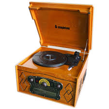 steepletone chichester iii nostalgic record player with radio cd cassette player light wood