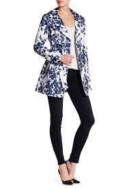 image of jessica simpson fl print trench coat