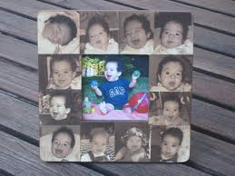 baby collage frame babys first year picture frame personalized collage baby frame