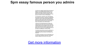 spm essay famous person you admire google docs