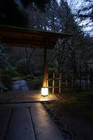 japanese outdoor lighting. Lighting Up The Japanese Garden At Night Moments Of Ma Style Landscape Andon In Portland Outdoor E