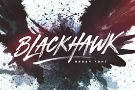 Blackhawk Brush Font Display Fonts Creative Market