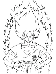 Goku Super Saiyan Coloring Pages Super Coloring Pages Super Coloring